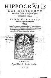 Hippocratis Coi ... Opera quae extant omnia
