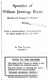 Speeches of William Jennings Bryan: Volume 2