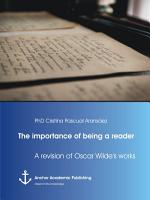 The importance of being a reader  A revision of Oscar Wilde s works PDF