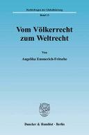 Vom V  lkerrecht zum Weltrecht PDF