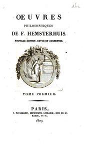 Œuvres philosophiques: Volume1