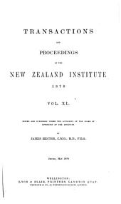Transactions and Proceedings of the New Zealand Institute: Volume 11