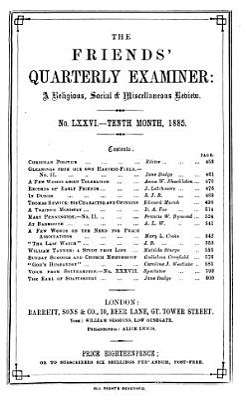 Friends  Quarterly Examiner
