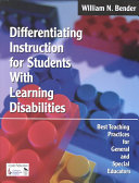 Differentiating Instruction for Students With Learning Disabilities PDF
