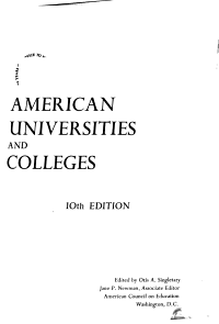 American Universities and Colleges PDF