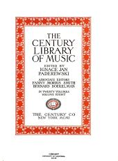 The Century Library of Music: Volume 8
