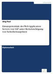 Einsatzpotentiale des Web Application Servers von SAP unter Berücksichtigung von Sicherheitsaspekten
