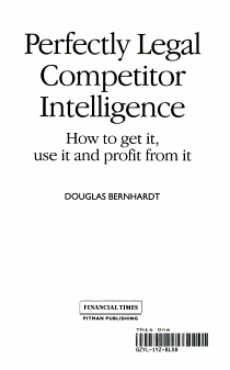 Perfectly Legal Competitor Intelligence PDF