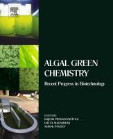 Algal Green Chemistry PDF