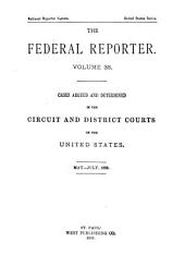 The Federal Reporter: Volume 38