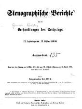 Verhandlungen des Reichstags: Band 135