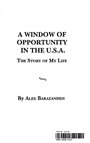 A Window of Opportunity in the U S A  PDF