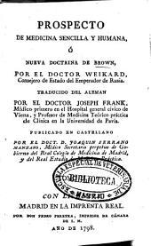 Prospecto de medicina sencilla y humana o Nueva doctrina de Brown: Volumen 2