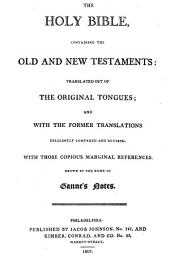 The Holy Bible: Containing the Old and New Testaments, Volume 1, Part 1