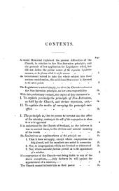 Statement respecting the non-intrusion principle of the Church of Scotland ... submitted to ... her majesty's government, by the non-intrusion committee, Dec. 1841: Volume 2