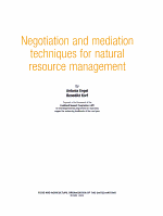 Negotiation and Mediation Techniques for Natural Resource Management PDF