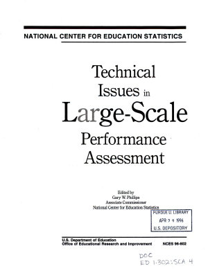 Technical Issues in Large scale Performance Assessment