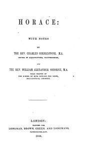 Horace: with notes by C. Girdlestone and W.A. Osborne