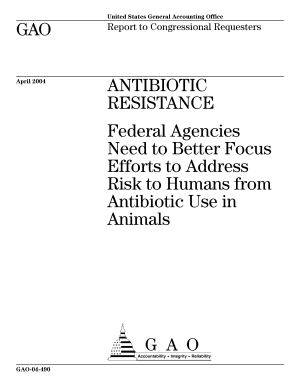 Antibiotic resistance federal agencies need to better focus efforts to address risk to humans from antibiotic use in animals : report to congressional requesters.