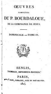 Oeuvres complétes du P. Bourdaloue: Dominicale