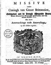 Missive vanden coningh van Groot Brittannien, geschreven aen de [...] Staten Generael der Vereenighde Nederlanden, date den vierden october 1666. Met korte aenmerckinge ende aenwysinge op den selfden ingestelt