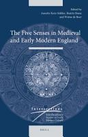 The Five Senses in Medieval and Early Modern England PDF