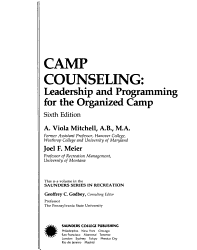 Camp Counseling Book PDF