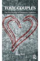 Toxic Couples  The Psychology of Domestic Violence PDF