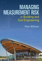 Managing Measurement Risk in Building and Civil Engineering PDF