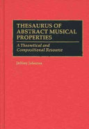 Thesaurus of Abstract Musical Properties