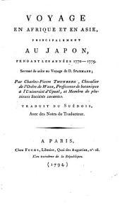 Voyage en Afrique et en Asie principalement au Japon pendant les annees 1770-79 ... Trad. du Suedois avec des notes