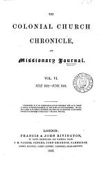 The Colonial Church chronicle, and missionary journal. July 1847-Dec. 1874