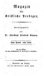 Magazin für christliche Prediger: Band 1
