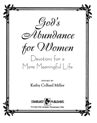 God s Abundance for Women Book