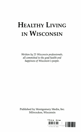 Healthy Living in Wisconsin PDF