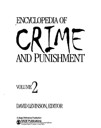 Encyclopedia of Crime and Punishment  D i