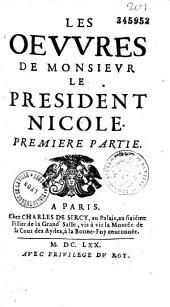 Les oeuvres de M le Président Claude Nicole