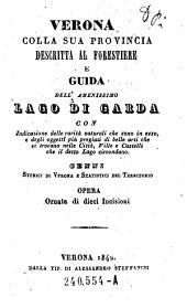 Verona colla sua provincia descritta al forestiere e guida dell'amenissimo Lago di Garda ... Cenni storici di Verona e Statistici del Territorio