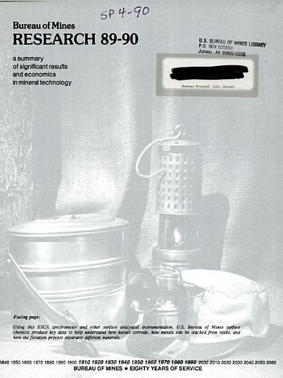 Bureau of Mines Research PDF