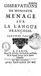 Observations sur la langue française