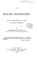 The English Reformation PDF