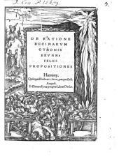 De ratione decimarum Othonis Brunnfelsii propositiones