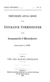 Annual Report of the Insurance Commissioners: Volume 1