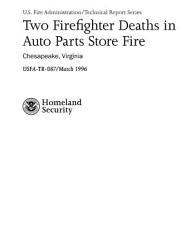 Two Firefighter Deaths In Auto Parts Store Fire Chesapeake Virginia Book PDF