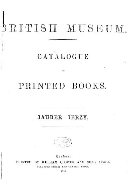 Download Catalogue of Printed Books in the Library of the British Museum     Book