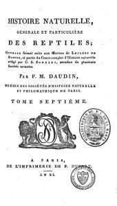 """Histoire naturelle, générale et particulière, des reptiles: ouvrage faisant suite à l'""""Histoire naturelle générale et particulière"""", composée par Leclerc de Buffon, et rédigée par C. S. Sonnini, Volume71"""