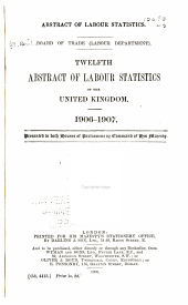 Abstract of Labor Statistics: Volume 12
