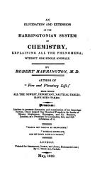 An Elucidation And Extension Of The Harringtonian System Of Chemistry Book PDF