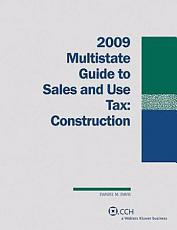 Multistate Guide to Sales and Use Tax 2009 PDF