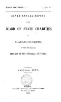 NINTH ANNUAL REPORT OF THE BOARD OF STATE CHARITIES OF MASSACHUSETTS PDF